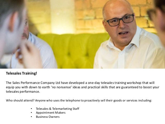 telesales training the sales performance company ltd