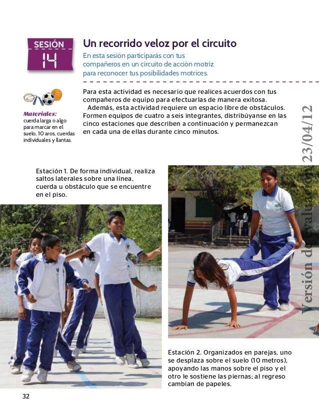Circuito De Accion Motriz : Telesecundaria educacion fisica er grado