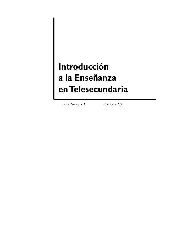 Telesecundaria pdf introduccion a la telesec for Introduccion a la gastronomia pdf
