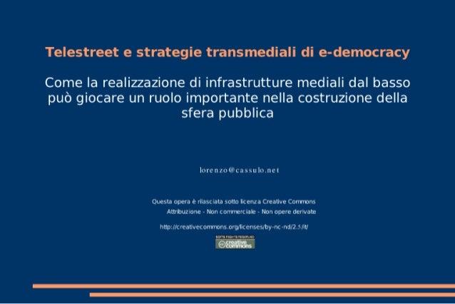 Telestreet e strategie transmediali di e-democracy