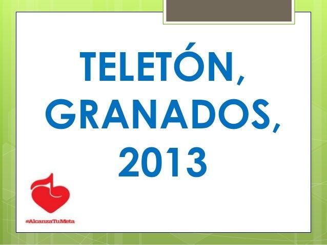 TELETÓN, GRANADOS, 2013