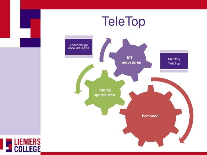TeleTop  Toekomstige ontwikkelingen                                       ICT-                  Scholing                  ...