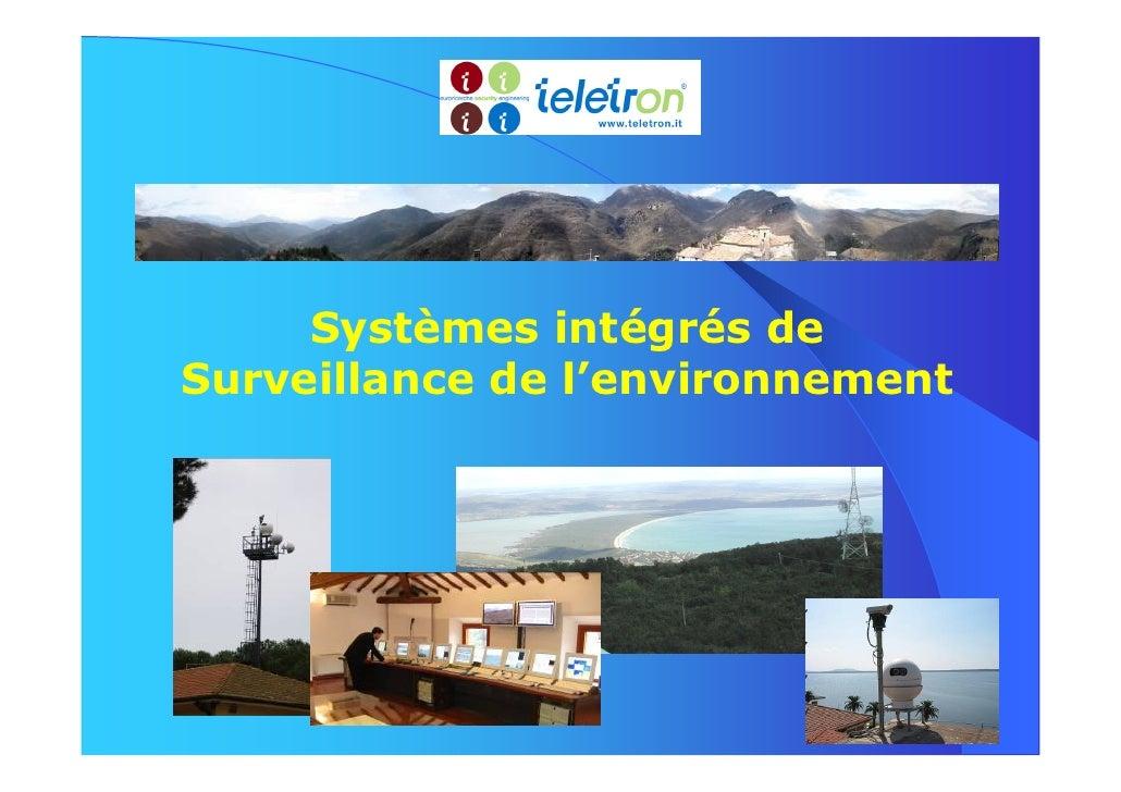 Systèmes intégrés deSurveillance de l'environnement
