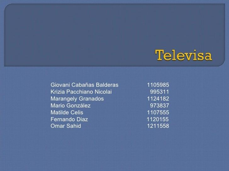 Giovani Cabañas Balderas    1105985 Krizia Pacchiano Nicolai    995311 Marangely Granados      1124182 Mario González     ...
