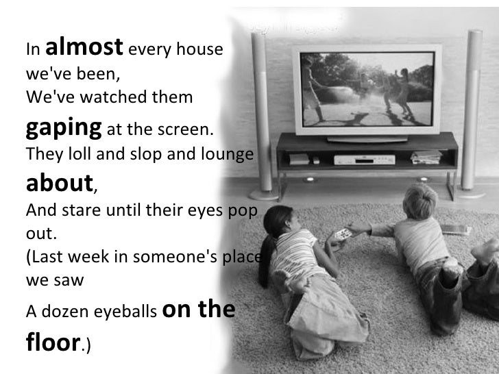 Television A Poem By Roald Dahl