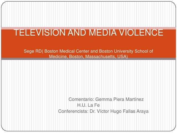 Television and media violence
