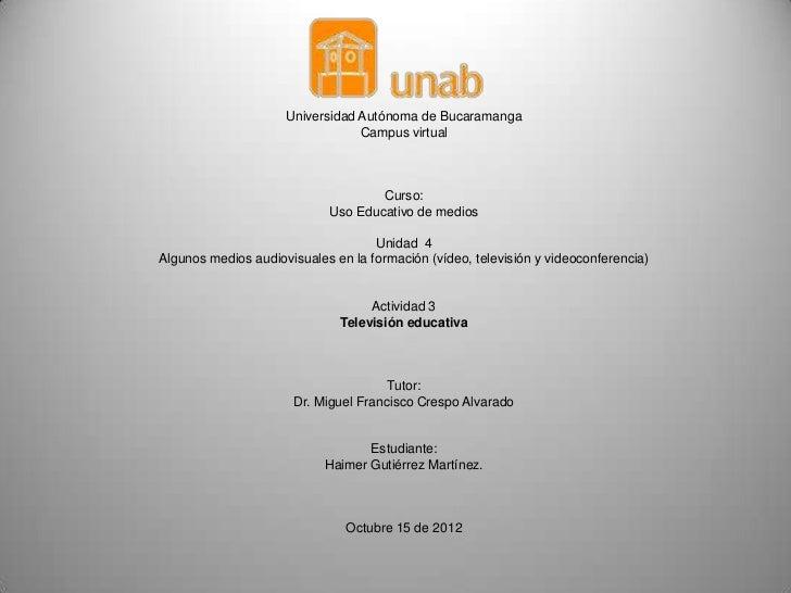 Universidad Autónoma de Bucaramanga                                 Campus virtual                                    Curs...