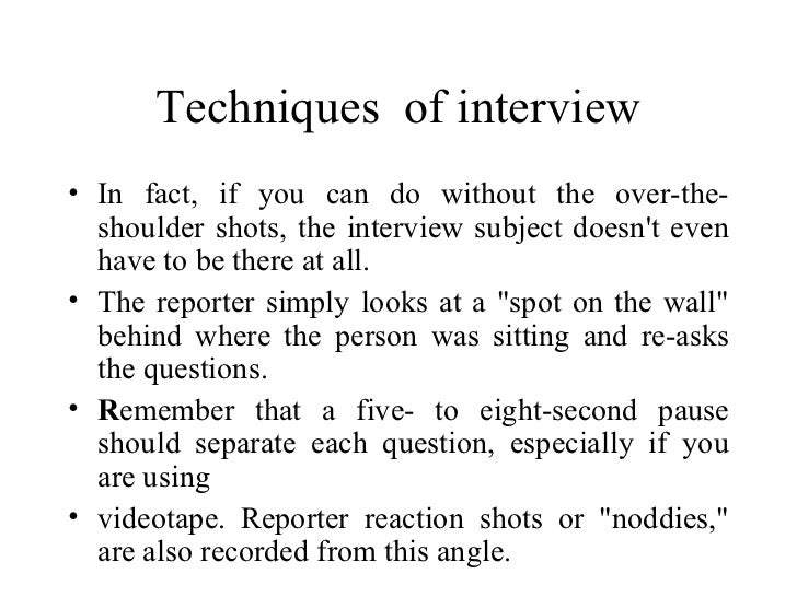 techniques of interview