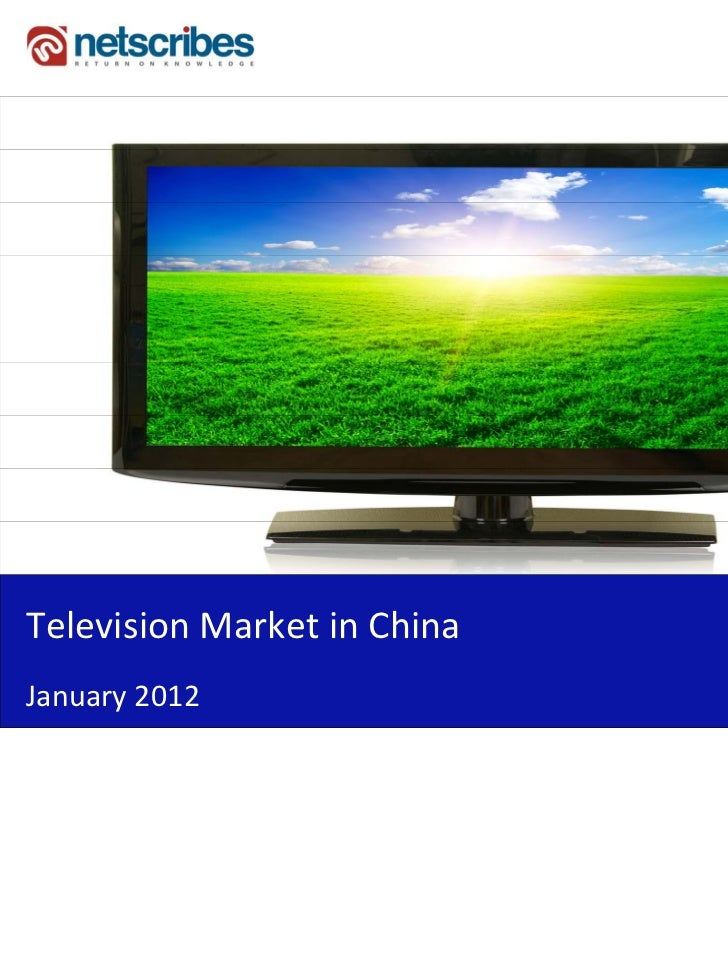Insert Cover Image using Slide Master View                              Do not distortTelevisionMarketinChinaJanuary2012