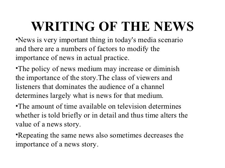 Television news writing