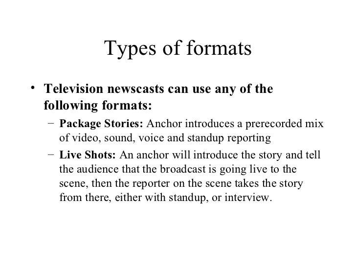 Television news writing