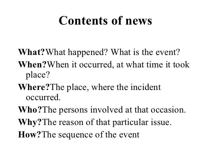 Write a TV News Script