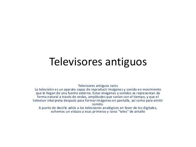 Televisores antiguos for Fotos de televisores