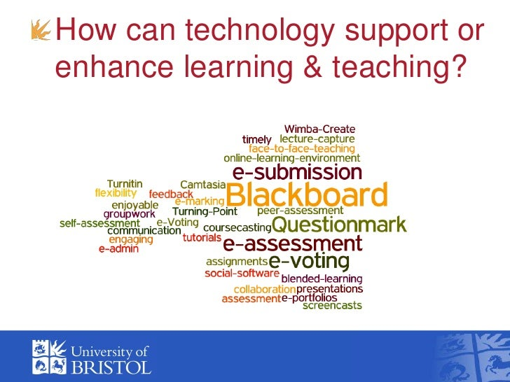 How can technology support orenhance learning & teaching?