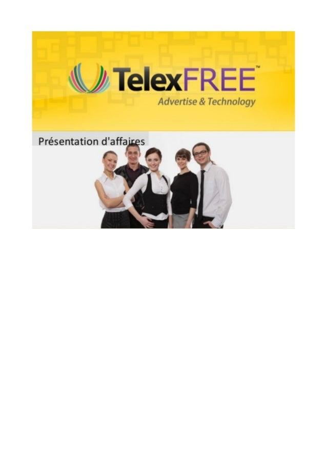 Opportunité d'affaires TelexFree en français: Présentation