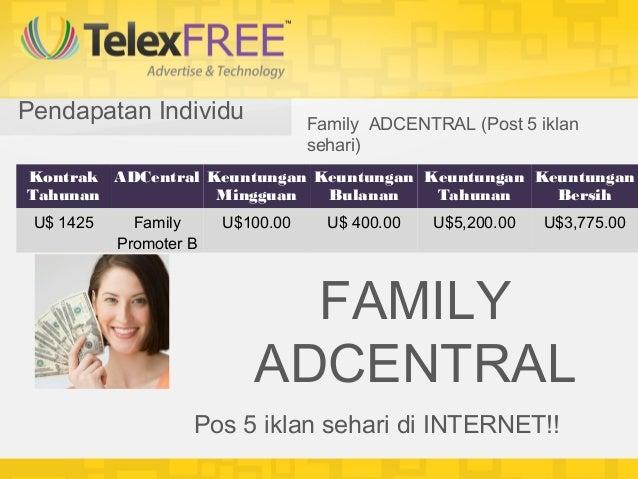 Pendapatan Individu                Family ADCENTRAL (Post 5 iklan                                   sehari)Kontrak ADCentr...