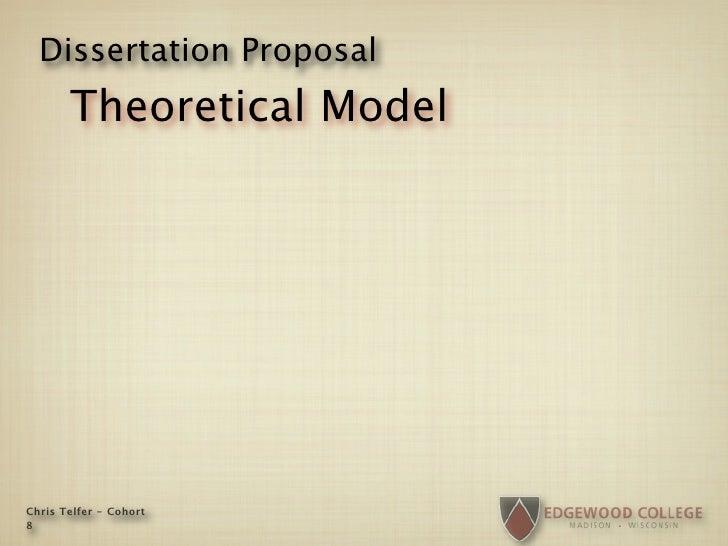 Dissertation Proposal        Theoretical Model     Chris Telfer - Cohort 8