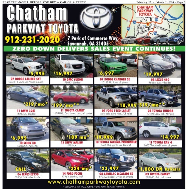 Chatham Parkway Toyota >> Tell n-sell feb 25 to mar 02