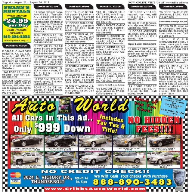 Tell n-sell free issue - aug 20 - aug 26, 2015