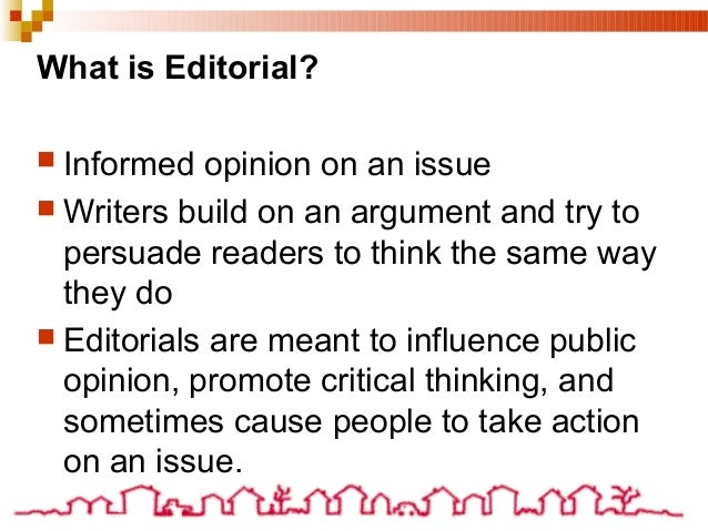 what is an editorial essay