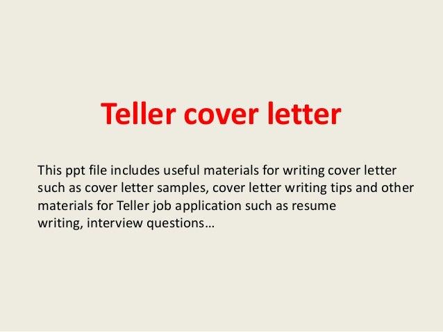 teller cover letters