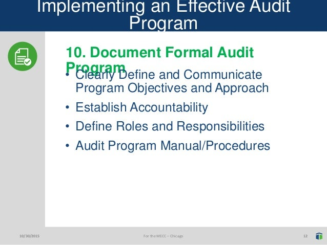 Nick Steinke, Tellevate, 10 Tips For Implementing An Effective Audit …