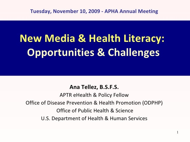 new media amp health literacy opportunities amp challenges