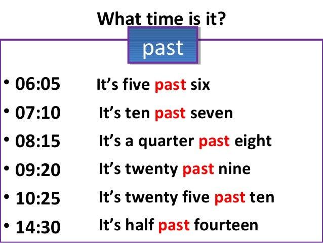 how to explain quarter past the hour