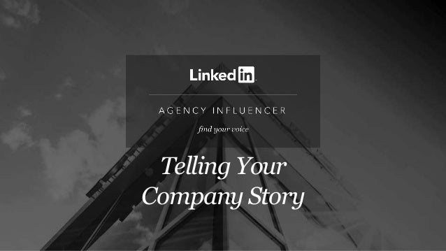 Telling Your Company Story