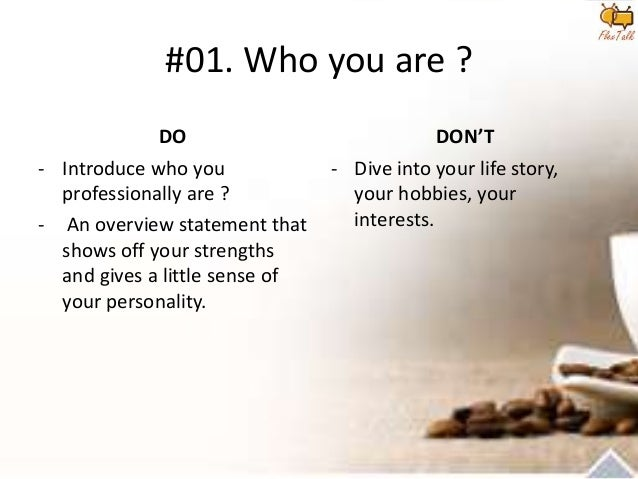how to write a little about yourself