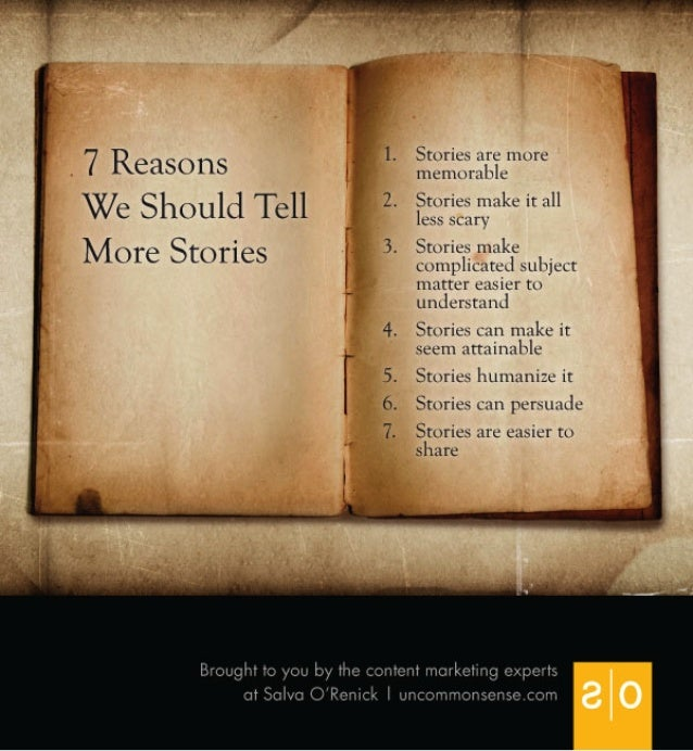 7 reasons financial marketing should tell more stories