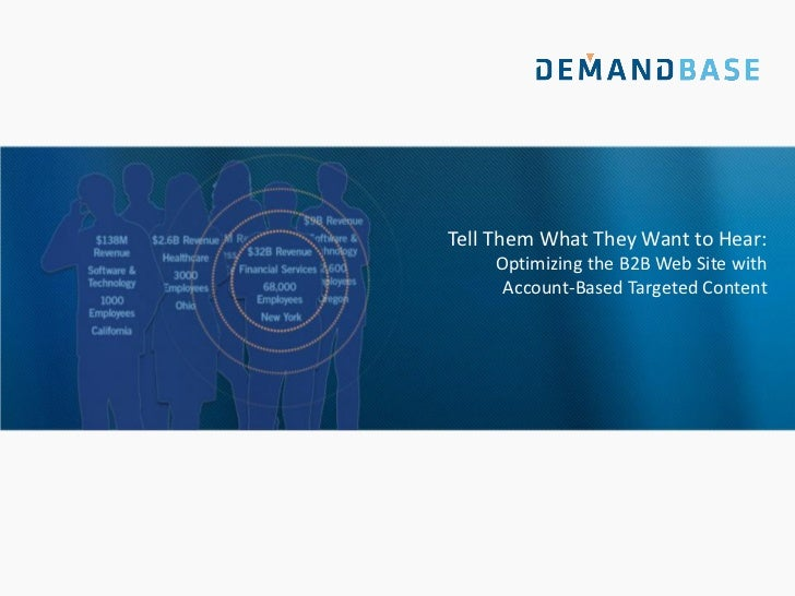 Tell Them What They Want to Hear:    Optimizing the B2B Web Site with     Account-Based Targeted Content