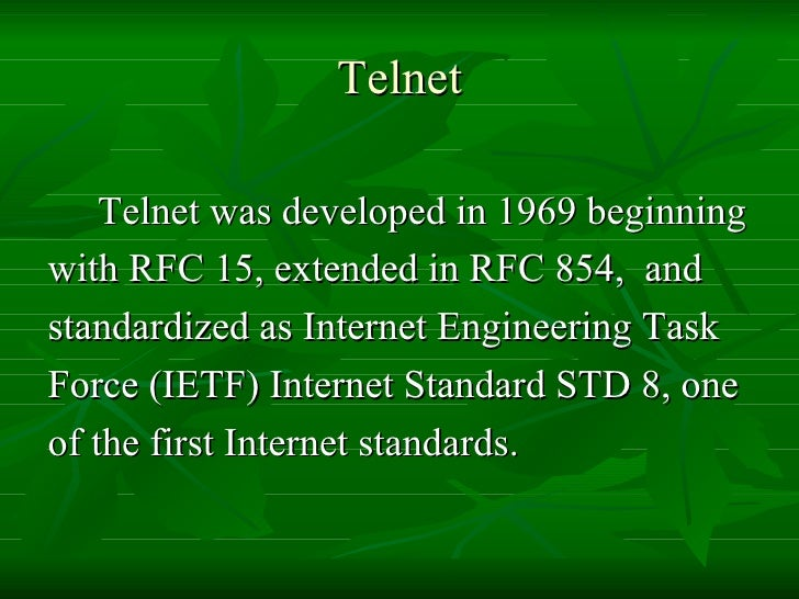 how to use telnet command