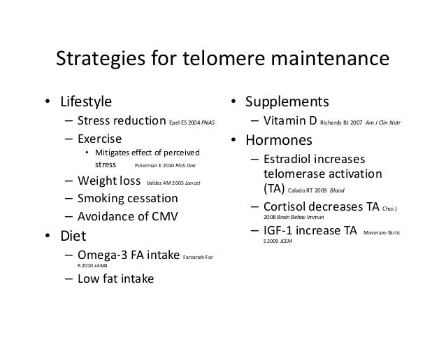 Telomeres, Telomerase, and TA-65