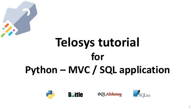 1 Telosys tutorial for Python – MVC / SQL application