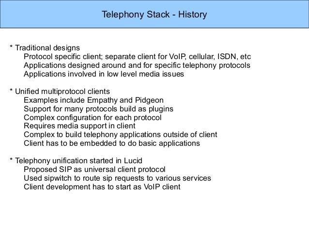 Ubuntu Desktop Telephony Stack