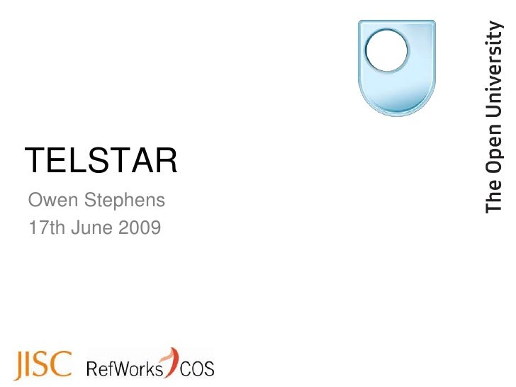 TELSTAR Owen Stephens 17th June 2009