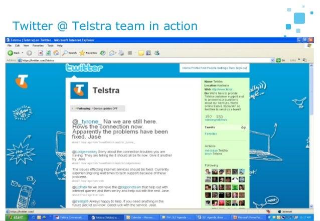 21 Twitter @ Telstra team in action
