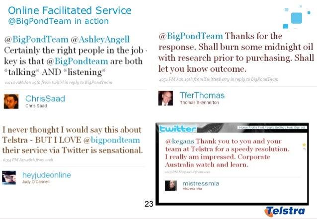 23 Online Facilitated Service @BigPondTeam in action
