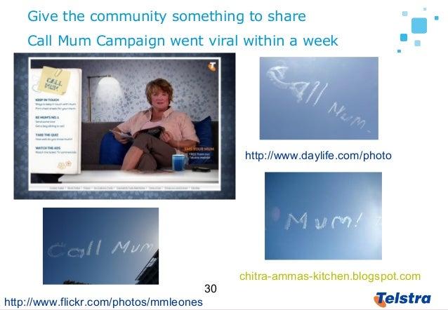 30 Give the community something to share http://www.daylife.com/photo chitra-ammas-kitchen.blogspot.com http://www.flickr....
