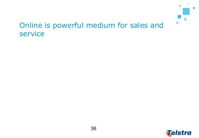 36 Online is powerful medium for sales and service But also for collaboration and education What is more dangerous is not ...