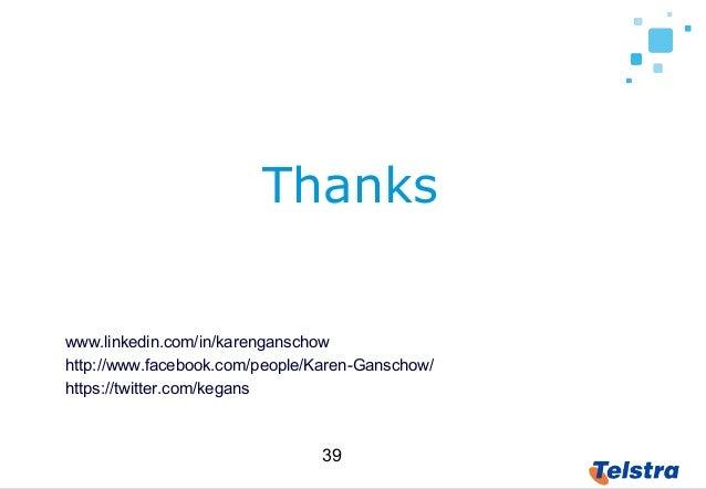 39 Thanks www.linkedin.com/in/karenganschow http://www.facebook.com/people/Karen-Ganschow/ https://twitter.com/kegans
