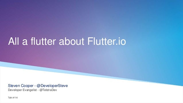 All a flutter about Flutter io