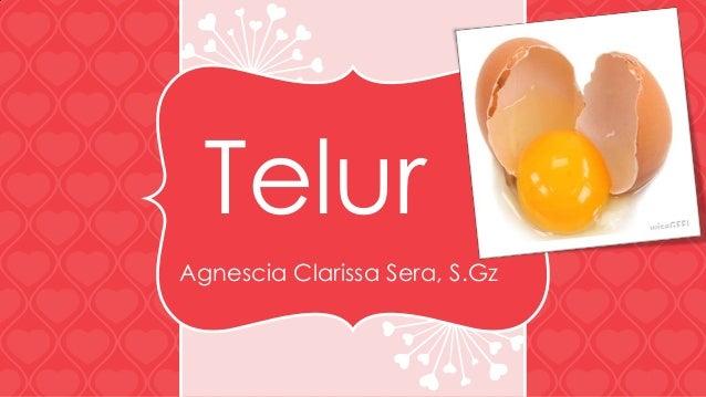 Telur Agnescia Clarissa Sera, S.Gz