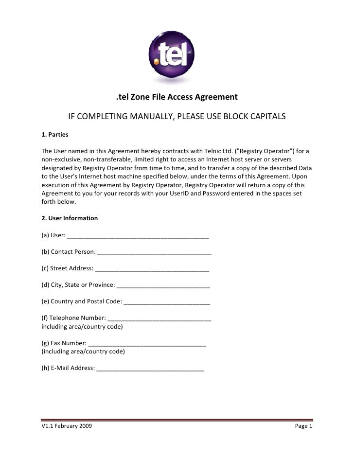 Access agreement image collections agreement letter format for Vpn access request form template