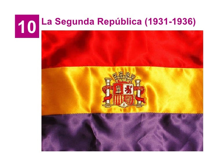 10 La Segunda República (1931-1936)