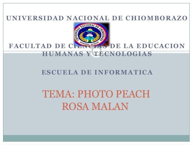 UNIVERSIDAD NACIONAL DE CHIOMBORAZOFACULTAD DE CIENCIAS DE LA EDUCACION      HUMANAS Y TECNOLOGIAS      ESCUELA DE INFORMA...