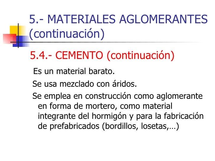 Tema 14 materiales de construcci n - Material construccion barato ...