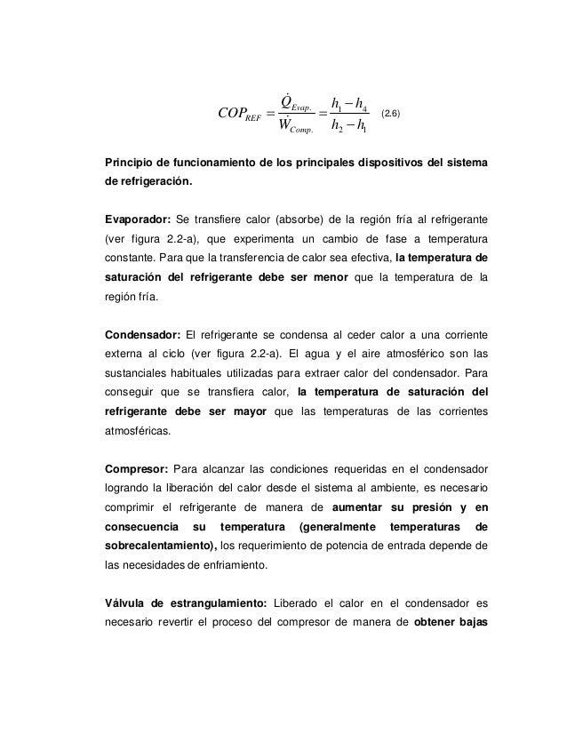 &                                    QEvap. h1 − h4                         COPREF   =       =            (2.6)           ...