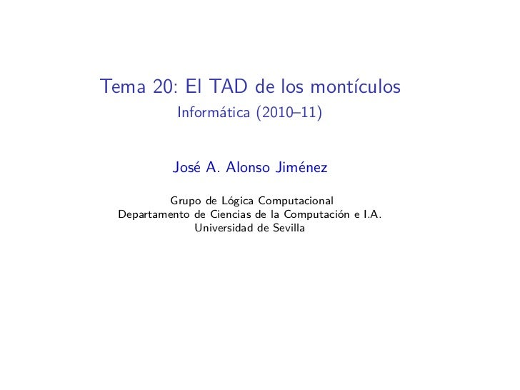 I1M2010-T20: El tipo abstracto de los montículos en Haskell